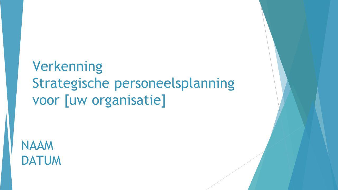 Verkenning Strategische personeelsplanning voor [uw organisatie]